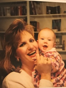 My mom and me in 1993
